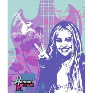 Hannah Montana Disney Secret Pop Star Child Bedding Fleece Throw