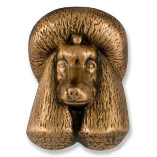 Michael Healy Poodle Dog Door Knocker in Bronze MHDOG08 Dogknocker