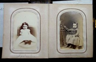 1860 Antique Hannum Family Friends Photo Album Brinton Sharp Newlin