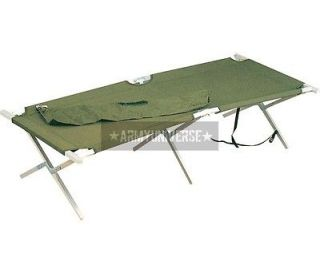 Olive Drab Heavy Duty Aluminum Portable Sleeping Cot w/ Carry Bag