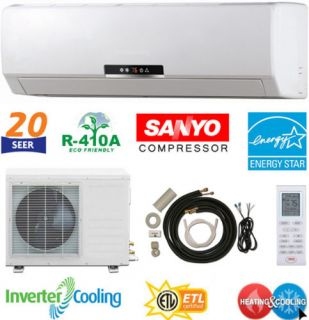 12000 BTU Ductless AC Mini Wall Split Air Conditioner Heat Pump