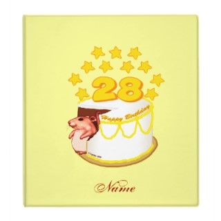 28 Year Old Mouse Birthday Cake Binders