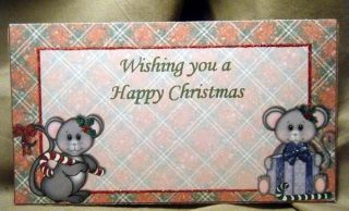 Handmade Greeting Card Happy Christmas Money Holder