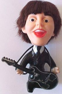Beatles Paul McCartney Vintage Hard Body Remco Doll with Guitar