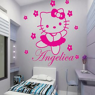 KITTY fairy Personalised Wall Sticker Art Decal Mural Vinyl Kids room