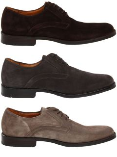 Johnston Murphy Mens Headley Plain Toe Brown or Grey or Dark Grey