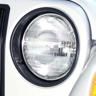 12419.23 Rugged Ridge Black Headlight Bezels SET Jeep Wrangler TJ LJ