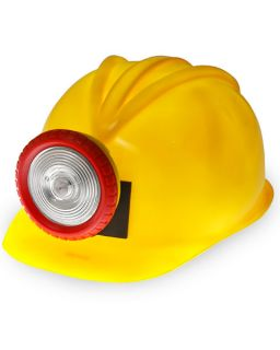 wigs masks hats occupational miner hard hat with attached light