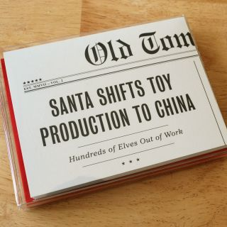 Christmas Headline Humorous Greeting Cards Set of 10