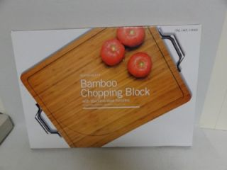 Chopping Block Cutting Board with Stainless Steel Handles