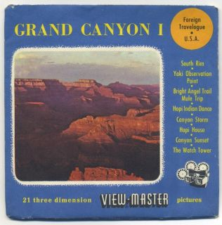 Grand Canyon Belgium Made Sawyers View Master Packet with Reels 26 27