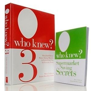 who knew 3 supermarket saving secrets 2 book set