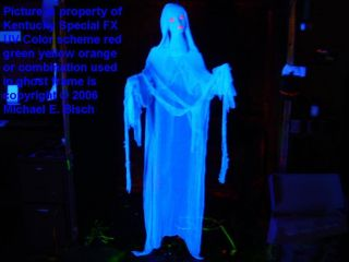 Blue Lady Halloween Hanging Ghost Prop Decoration Blacklight Reactive