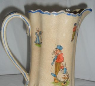 Harker Pottery Pitcher & Six Tumblers Circa 1890 Semi~Porcelain Dutch