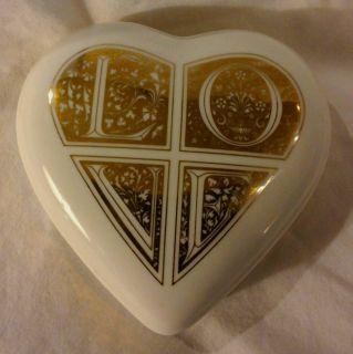 Papel of Reelance Heart Shaped Trinket Box 1995 Fine Bone China Made