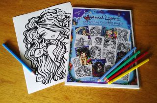 Coloring Book Pages Fairies Mermaids Vampires Hannah Lynn Art Vol 4