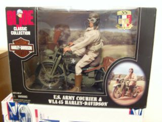 Harley Davidson ken barbie GI Joe army motorcycle courier 35 yr
