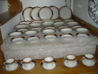 Vintage J G Meakin China England Queen Mary 40pcs Service for Five