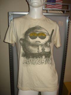 Mens Cartman South Park Authority T Shirt Size Medium