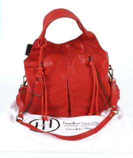 hayden harnett red leather large tote handbag new
