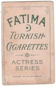 C1910 Fatima Cigarettes Card T27 Actress Helen Ware VG