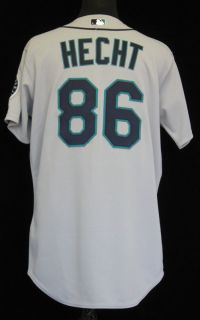2009 Seattle Mariners Steve Hecht 86 Game issued Grey Road Jersey