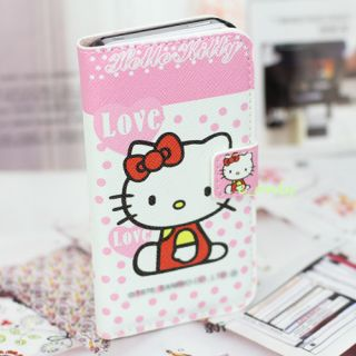 Lovely Girl Candy Hello Kitty PU Hard Skin Case Cover for iPhone 4 4S