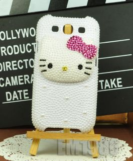 new 3d hello kitty pearl crystal phone cover case for samsung galaxy