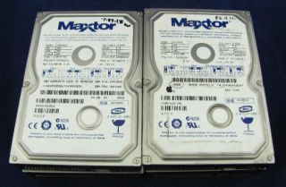 of 4 maxtor 4d040h2 5400rpm ultra ata 100 40gb 2mb 3 5 ide hard drives