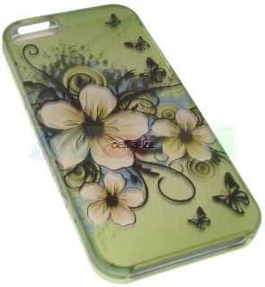 Green Hawaii Flower Hard Protector Guard Phone Case Cover