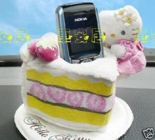 Hello Kitty Cake Car Mobile Phone Storage Holder