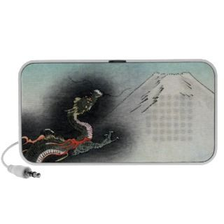 Ryu Dragon rising over Mount Fuji Travelling Speakers