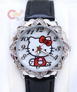 sanrio hello kitty wrist watch with rhinestone