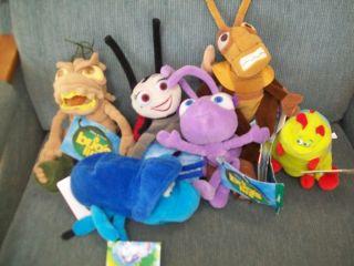 Bugs Life Bean Bags Plush Heimlich Francis Hopper Dot Dim PT