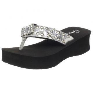 Grazie Flip Flop Sandal Sheba Silver