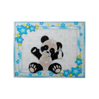 Cute Blue Baby Panda Bear Puzzle
