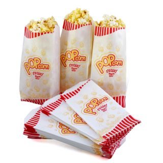 Great Northern Popcorn Case of 100 1 Ounce (Oz) Popcorn Theater Bags