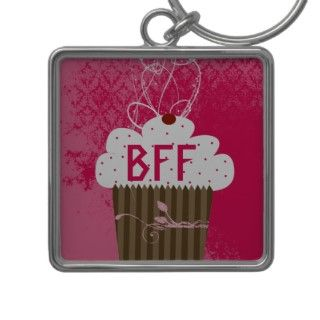 BFF Best Friends Forever Cupcake Keychain