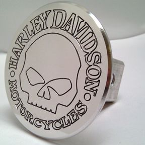 Trailer Hitch Cover Harley Davidson Skull Aluminum 6061
