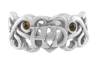HARLEY DAVIDSON LADIES STERLING SILVER TRIBAL RING (7)