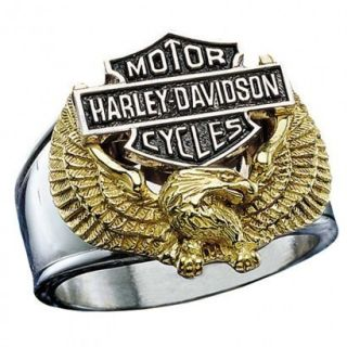 Harley Davidson Mens Eagle Ring by The Franklin Mint
