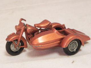 Lesney Matchbox 66 Harley Davidson Sidecar Motorcycle 1960s Die Cast