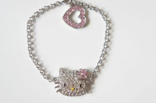 Hello Kitty Pink Flower Bracelet with Swarovski Crystal