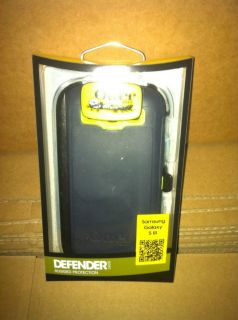 for Samsung Galaxy S3 Defender Series Glo Green Lake Blue