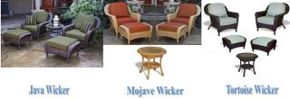 Tortuga Outdoor Patio Furniture Java Resin Wicker Club Chairs Ottomans