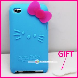 HELLO KITTY SILICONE BACK CASE SKIN COVER FOR IPOD TOUCH 4 Gen 4G 4TH