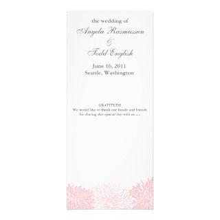 Chrysanthemum Blossom Wedding Program Custom Invitations