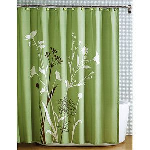 Shower Curtain Green Floral Hometrends Marmon