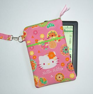 Hello Kitty Pink Retro Nook Color Kindle Case Cover