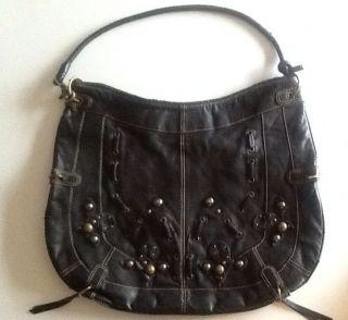 Vintage Hayden Harnett Leather Hobo Bag